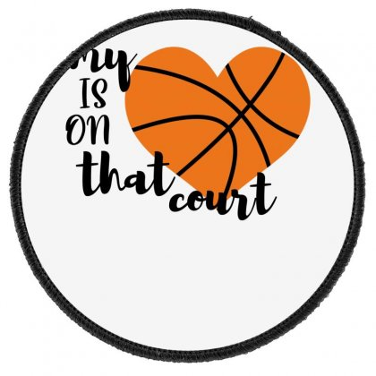 My Is On That Court Basketball For Light Round Patch Designed By Sengul