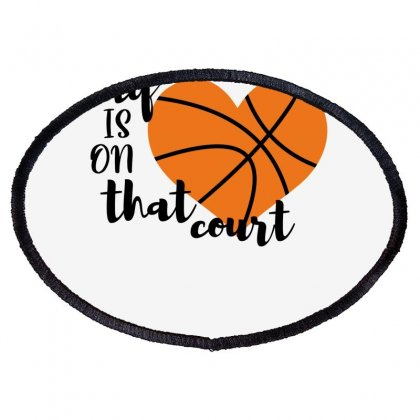 My Is On That Court Basketball For Light Oval Patch Designed By Sengul