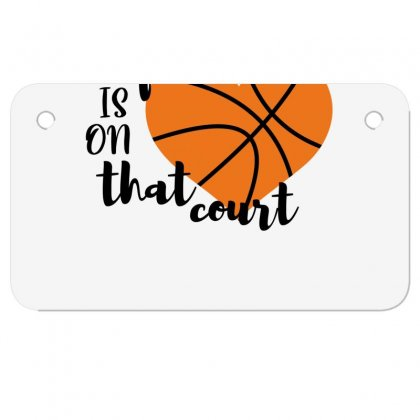 My Is On That Court Basketball For Light Motorcycle License Plate Designed By Sengul