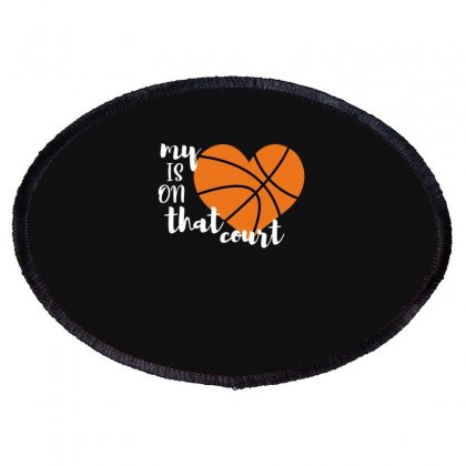 My Is On That Court Basketball For Dark Oval Patch Designed By Sengul