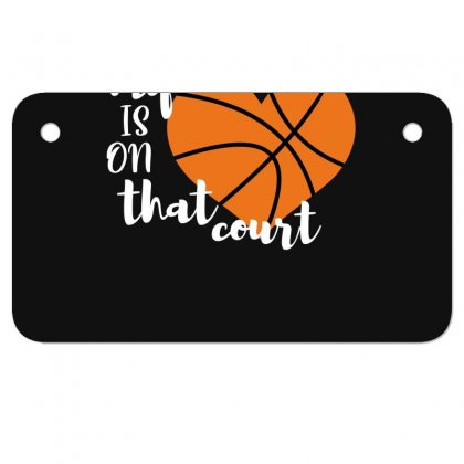 My Is On That Court Basketball For Dark Motorcycle License Plate Designed By Sengul