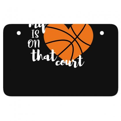 My Is On That Court Basketball For Dark Atv License Plate Designed By Sengul