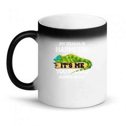 My Iguana Is Harmless It's Me You Should Worry About For Dark Magic Mug Designed By Gurkan