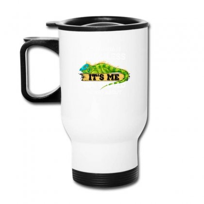 My Iguana Is Harmless It's Me You Should Worry About For Dark Travel Mug Designed By Gurkan