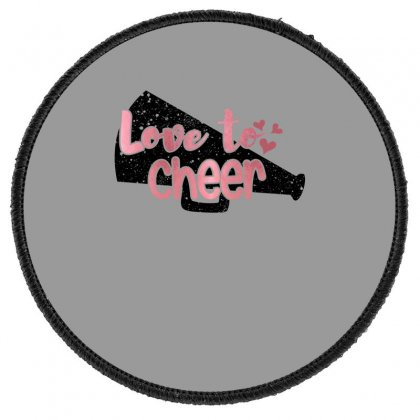 Love To Cheer For Light Round Patch Designed By Sengul