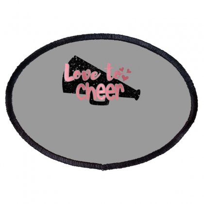 Love To Cheer For Light Oval Patch Designed By Sengul