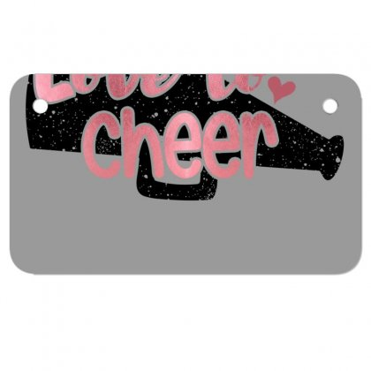 Love To Cheer For Light Motorcycle License Plate Designed By Sengul