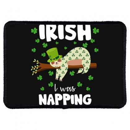 Irish I Was Napping For Dark Rectangle Patch Designed By Sengul