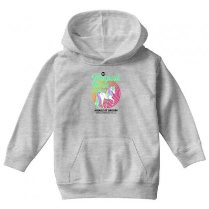 The Magical Horse Creature For Light Youth Hoodie Designed By Gurkan