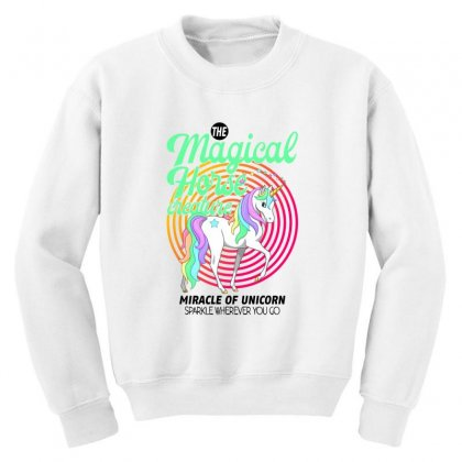 The Magical Horse Creature For Light Youth Sweatshirt Designed By Gurkan