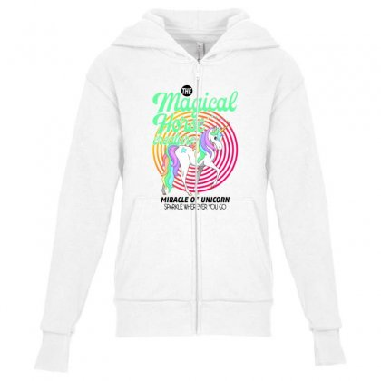 The Magical Horse Creature For Light Youth Zipper Hoodie Designed By Gurkan