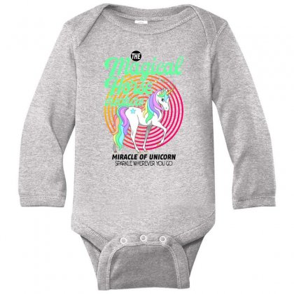 The Magical Horse Creature For Light Long Sleeve Baby Bodysuit Designed By Gurkan