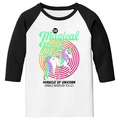 The Magical Horse Creature For Light Youth 3/4 Sleeve Designed By Gurkan
