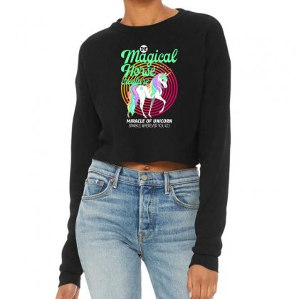 The Magical Horse Creature For Dark Cropped Sweater Designed By Gurkan