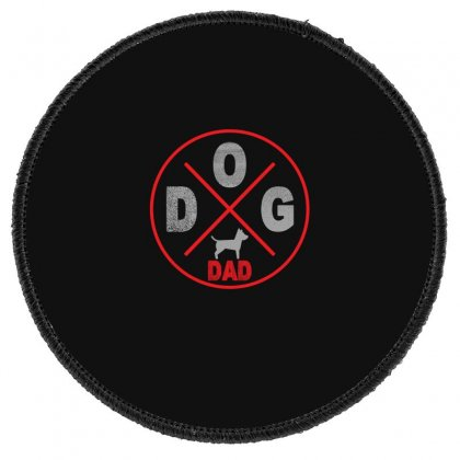 Dog Dad Round Patch Designed By Gurkan