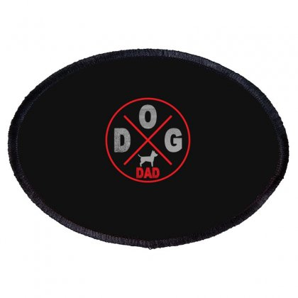 Dog Dad Oval Patch Designed By Gurkan