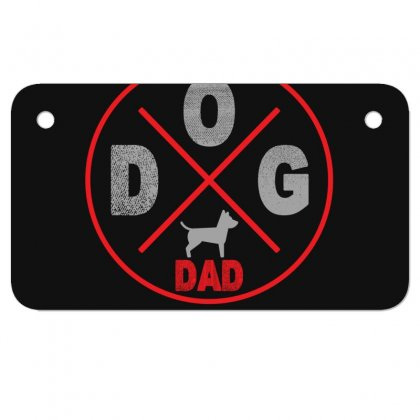 Dog Dad Motorcycle License Plate Designed By Gurkan