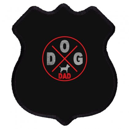 Dog Dad Shield Patch Designed By Gurkan