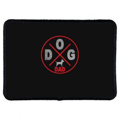 Dog Dad Rectangle Patch Designed By Gurkan