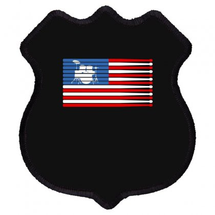 Drums American Flag Shield Patch Designed By Gurkan