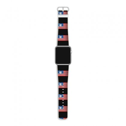 Drums American Flag Apple Watch Band Designed By Gurkan