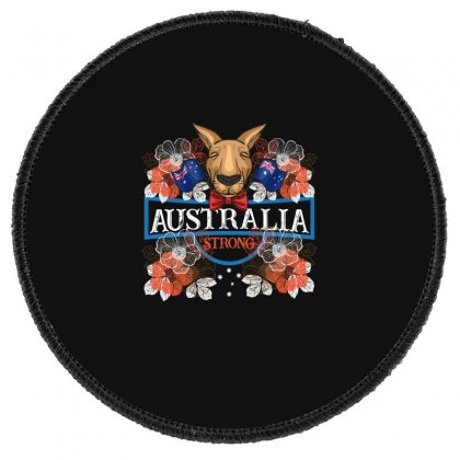 Australia Strong Kangaroo Round Patch Designed By Gurkan