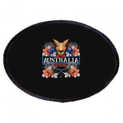 Australia Strong Kangaroo Oval Patch Designed By Gurkan