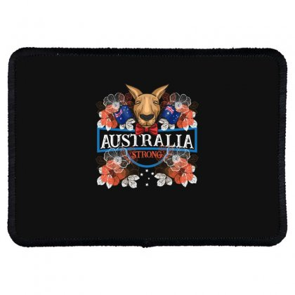 Australia Strong Kangaroo Rectangle Patch Designed By Gurkan