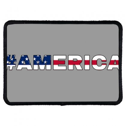 America Rectangle Patch Designed By Krishhis