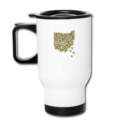 I Was Carried To Ohio In A Swarm Of Bees For Dark Travel Mug Designed By Gurkan