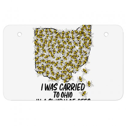I Was Carried To Ohio In A Swarm Of Bees For Light Atv License Plate Designed By Gurkan