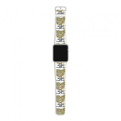 I Was Carried To Ohio In A Swarm Of Bees For Light Apple Watch Band Designed By Gurkan