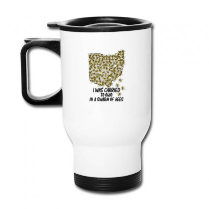 I Was Carried To Ohio In A Swarm Of Bees For Light Travel Mug Designed By Gurkan