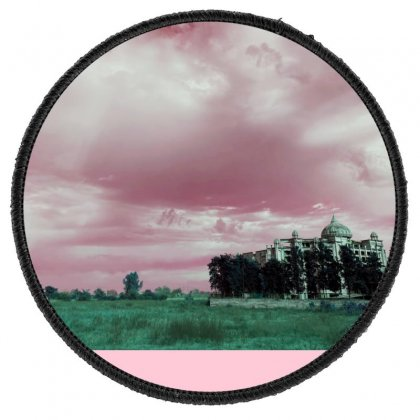 Pink Sky Round Patch Designed By Ar.tist_creations