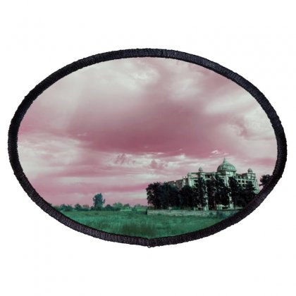 Pink Sky Oval Patch Designed By Ar.tist_creations