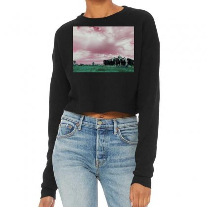 Pink Sky Cropped Sweater Designed By Ar.tist_creations