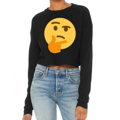 Thinking Emoji Cropped Sweater Designed By Marwan155