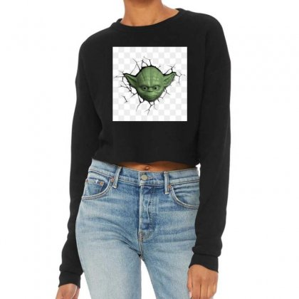Beby Yoda 3 Cropped Sweater Designed By Acoy