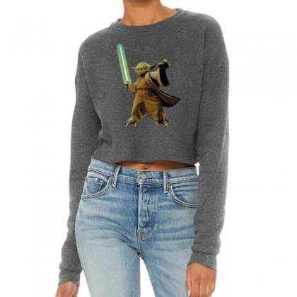 Beby Yoda Cropped Sweater Designed By Acoy