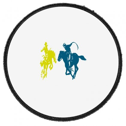 Cowboy Fight Round Patch Designed By Acoy