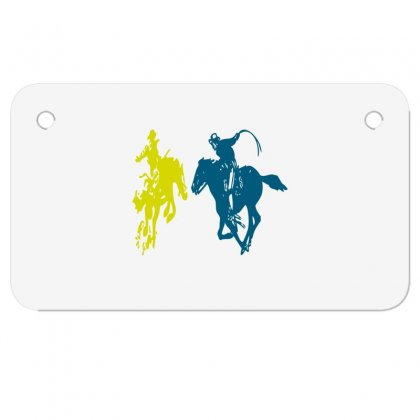Cowboy Fight Motorcycle License Plate Designed By Acoy