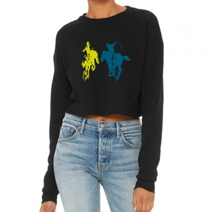 Cowboy Fight Cropped Sweater Designed By Acoy