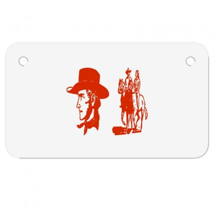 Romantic Cowboy Couple Motorcycle License Plate Designed By Acoy