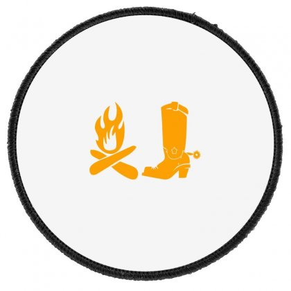 Shoes And Fire Round Patch Designed By Acoy