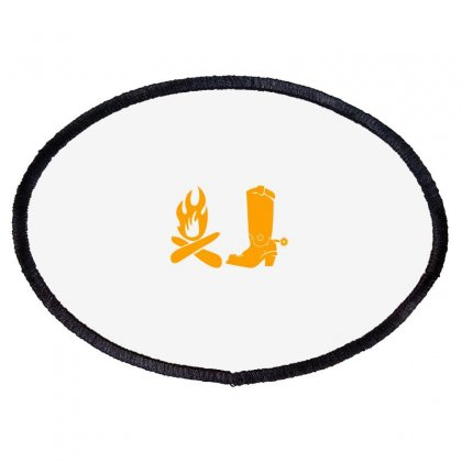 Shoes And Fire Oval Patch Designed By Acoy