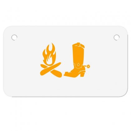 Shoes And Fire Motorcycle License Plate Designed By Acoy