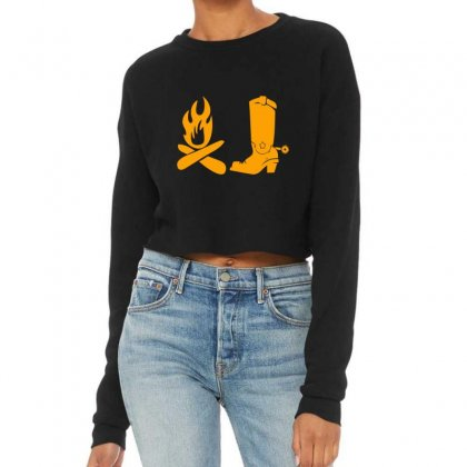 Shoes And Fire Cropped Sweater Designed By Acoy