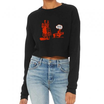 This Is Love That Doesn't End Well Cropped Sweater Designed By Acoy