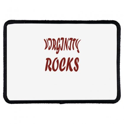 Virginity Rock 6 Rectangle Patch Designed By Acoy