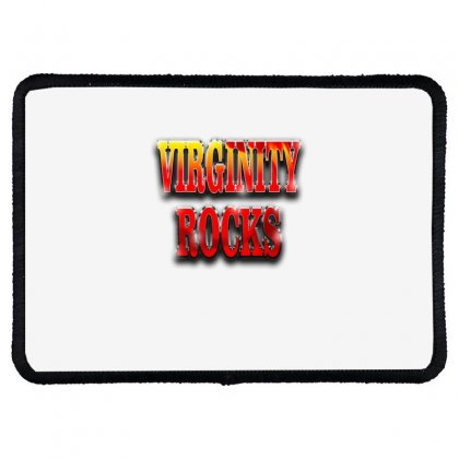 Virginity Rocks Rectangle Patch Designed By Acoy